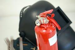 Schweißensausrüstung u. Feuerlöscher Lizenzfreie Stockfotografie