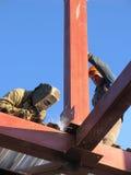 Schweißer auf Baustelle Lizenzfreies Stockbild
