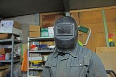 Schweißer in der Maske Lizenzfreie Stockbilder