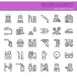 Schweißer Elements Lizenzfreie Stockbilder