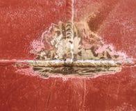 Schweißende Naht, Metallhintergrund Lizenzfreies Stockfoto