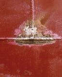 Schweißende Naht, Metallhintergrund Lizenzfreies Stockbild