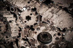 Schweißender Nahtmetallhintergrund Lizenzfreies Stockfoto