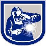 Schweißer Welding Torch Front Shield Retro Stockbild