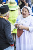 Schweik conversation with a nurse Royalty Free Stock Photo