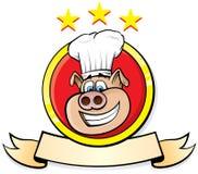 Schwein-Chef Stockfoto