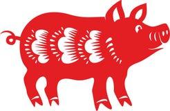 Schwein, chinesisches Mondhoroskop Lizenzfreie Stockbilder