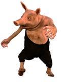 Schwein des weißen reaktionären Hinterwäldlers 3d Stockfotografie