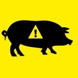 Schwein-Grippe-WARNING lizenzfreie abbildung