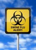 Schwein-Grippe-Warnung lizenzfreie abbildung