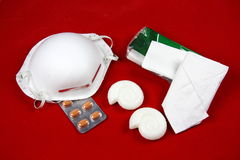 Schwein-Grippe-Wesensmerkmale a-(H1N1) Stockfoto