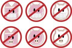 Schwein-Grippe-Zeichen Lizenzfreie Stockbilder