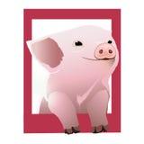 Schwein im Rahmen Lizenzfreie Stockfotos