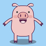 Schwein-Karikatur Stockbild