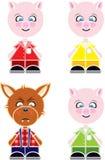 Schwein-Marionetten Stockfotos