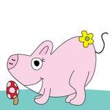 Schwein nett stock abbildung