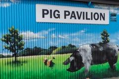 Schwein-Pavillon stockfotografie