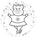 Schwein - Rochen das Symbol 2019 vektor abbildung