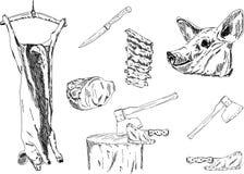 Schwein-Schlachten Lizenzfreies Stockfoto