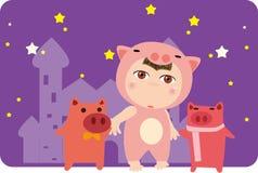 Schwein und Kind Lizenzfreies Stockfoto