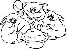 Schweine stock abbildung