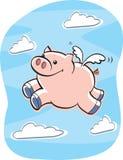 Schweine fliegen Lizenzfreie Stockfotos