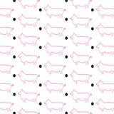 Schweine und Tupfen lizenzfreie abbildung