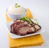 Schweinefleisch. Bbq-Schweinefleisch und knusperiges Schweinefleisch lizenzfreie stockfotografie