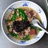 Schweinefleisch-Blut-Suppe u. x28; Tom Lerd Moo u. x29; Stockbild