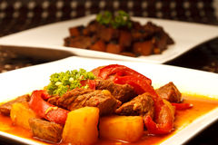 Schweinefleisch-Eintopfgericht stockbild