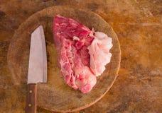 Schweinefleisch für Koch Stockbild