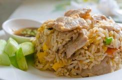 Schweinefleisch-gebratener Reis Stockfoto