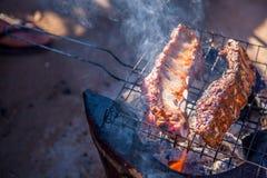 Schweinefleisch-Grill Stockfotografie