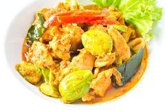Schweinefleisch im würzigen Curry Stockfotografie