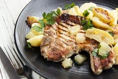 Schweinefleisch-Mahlzeit Stockfotos