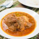 Schweinefleisch massaman Curry Lizenzfreie Stockfotos