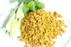 Schweinefleisch mit gelber Curry-Paste Stockfoto