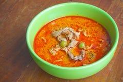 Schweinefleisch panang Curry Stockfotos