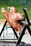 Schweinefleisch Rotisserie Lizenzfreie Stockfotos