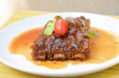 Schweinefleisch-Schweinsrippchen-Grill Lizenzfreie Stockfotos