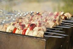 Schweinefleisch shashlik Lizenzfreies Stockbild