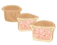 Schweinefleisch-Torte Lizenzfreies Stockbild