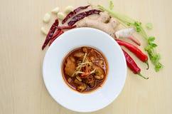 Schweinefleischcurry Kaeng Hung Ley Stockfoto