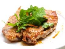 Schweinefleischkotelett stockbild