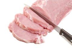 Schweinefleischzartes lendenstück Stockfotos