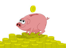 Schweingeldkasten stock abbildung