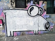 Schweingraffiti Lizenzfreie Stockbilder