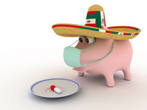 Schweingrippe Stockfoto