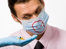 Schweingrippehilfsmittel Stockfoto