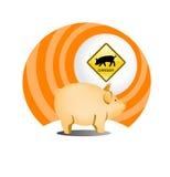 Schweingrippeikone Stockfotos